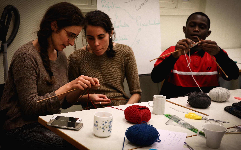Apprentissage des bases de tricot